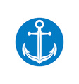 Anchor symbol monochrome icon vector image