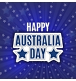 Australia Day - 26 January - Vintage Typographic vector image vector image