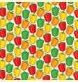 background pattern with sweet bell peppers vector image vector image