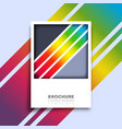 background with colorful gradient lines design vector image vector image