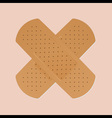 bandaid plaster vector image