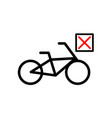 banned cyclists icon vector image