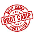 boot camp red grunge round vintage rubber stamp vector image vector image