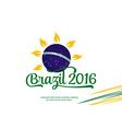 brazil logo on white background patriotic vector image