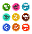 business off labels set discount icons vector image vector image