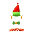 Christmas elf hat isolated on white background vector image