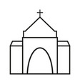 church of the icon religion for christianity vector image vector image
