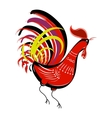 Color fire cock on white background looking at vector image vector image