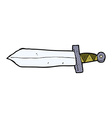 comic cartoon sword vector image vector image