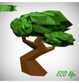 Conceptual polygonal tree Abstract vector image