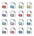 creative of file type icon set vector image