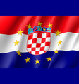 croatia national flag with a circle of eu vector image vector image