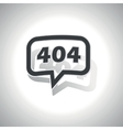 Curved error 404 message icon vector image