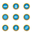 discount time icons set flat style vector image