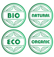 eco stamps vector image vector image