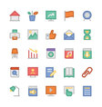 Education Flat Colored Icons 3 vector image vector image