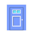 entrance door front view homes and buildings vector image