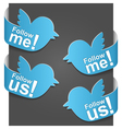 follow me vector image vector image
