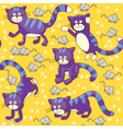 Funny cats and mouses seamless vector image vector image