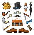 gentleman accessories set hipster or businessman vector image vector image