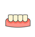 gingivitis gum inflammation dental related icon vector image vector image