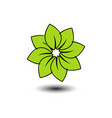 green flower image vector image vector image