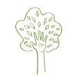hand forming a tree with leaves vector image vector image