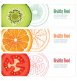 healthy food banner vector image vector image
