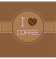 I love coffee card with coffee beans heart Pink te vector image