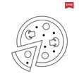 italian pizza icon vector image