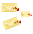 Lace envelope with a flower heart vector image vector image