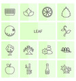 leaf icons vector image vector image