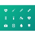Medical icons on green background