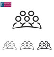 meeting line icon on white background editable vector image vector image