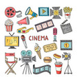 movie entertainment icon set pictures in vector image vector image