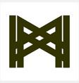 mw wm mxw wxm initials geometric letter company vector image vector image