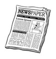 newspaper coloring book vector image