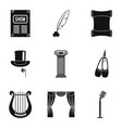 old music icons set simple style vector image vector image