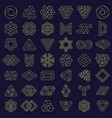 optical illusion impossible shapes geometric vector image