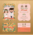 orange orchard theme wedding couple bride amp vector image vector image