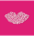 ornamental lips of stylized lips vector image vector image
