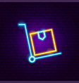 package delivery neon sign vector image