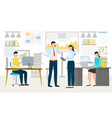 people working in company workspace team vector image vector image
