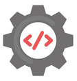 programming seo flat icon vector image