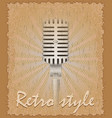retro style poster old microphone vector image