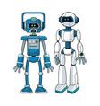 robots futuristic engineer design vector image vector image