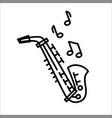 saxophone icon isolated on vector image vector image