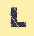scribbled letter l vector image