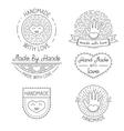 set of badges labels design elements vector image