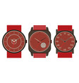 set of three mechanical watches vector image